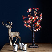 50cm Frosted Red Berry LED Tree Light
