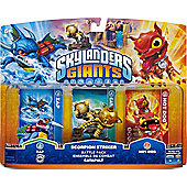 Skylanders Giants Scorpion Striker Battle Pack (Zap + Catapault + Hot Dog)