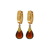 QP Jewellers 6.0ct Garnet Huggie Tear Earrings in 14K Gold