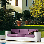 Varaschin Cora 3 Seater Sofa by Varaschin R and D - White - Panama Azzurro