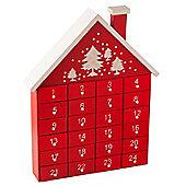 Red Wooden House Advent Calendar