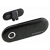 SuperTooth Crystal Handsfree Bluetooth Visor Car-Kit for Smartphone Devices - Black