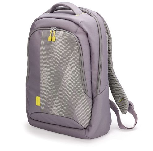 Dicota Bounce Backpack (Grey/Yellow) for 15 inch - 16.4 inch Notebook