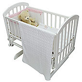 Cuddles Collection Knitted Cable Blanket (White)