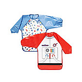 B Baby's Astronaut Coverall Bibs - 2 Pack