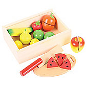 Bigjigs Toys BJ747 Wooden Play Food Cutting Fruit