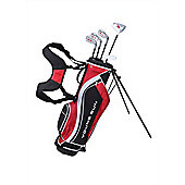Young Gun Sgs V.2 Junior Kids Right Hand Golf Package Set + Bag Age 9-11 - Red