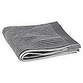 Tesco Grey Stripe Hand Towel
