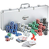 eSecure - Professional 11.5g 500pcs Poker Set inc. Dice, Dealer & Blind Buttons, 2 Card Decks & Aluminium Carry Case