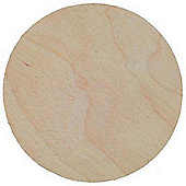 Birch Plaque 75mm dia 4mm thick Pack of 3