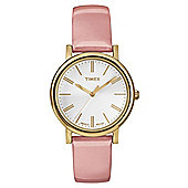 Timex Originals Round Ladies Leather Strap Watch - T2P332
