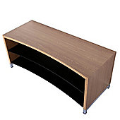 TNW Paris Curve 1300 Oak TV Stand For Up To 55 inch TVs