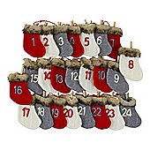 Knitted Fabric Sock 200cm Washing Line Christmas Advent Calendar