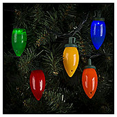 50 Cone Christmas Lights, Coloured