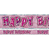 Dazzling Effects Happy Birthday Banner (each)