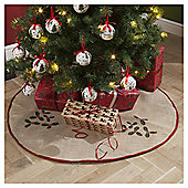 Hessian Christmas Tree Blanket