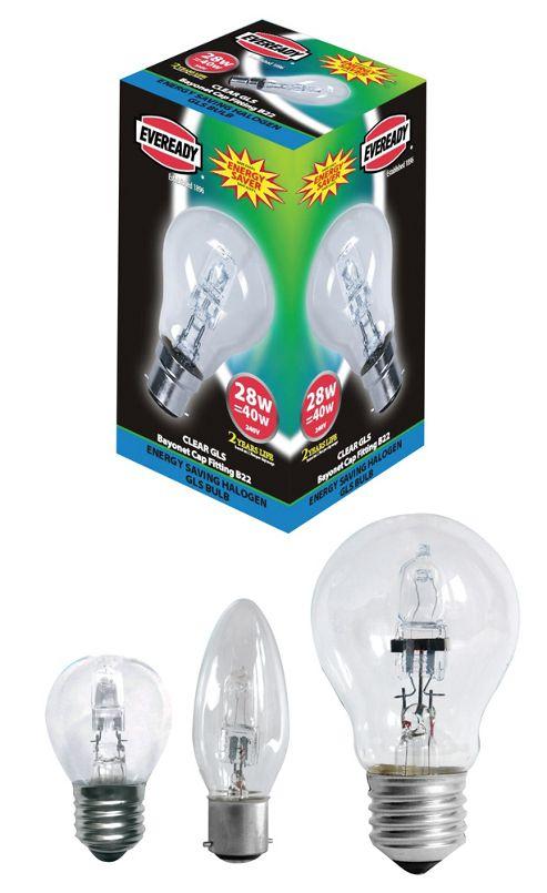 EVE Halogen G45 Golf Lamps Energy Saving 28 Watt 40 Watt BC Bayonet Cap ( B22 )