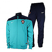 2014-15 Portugal Nike Woven Tracksuit (Turbo Green) - Ocean blue