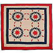 Woven Magic Patriotic Star New England Tea Dyed Crib Throw