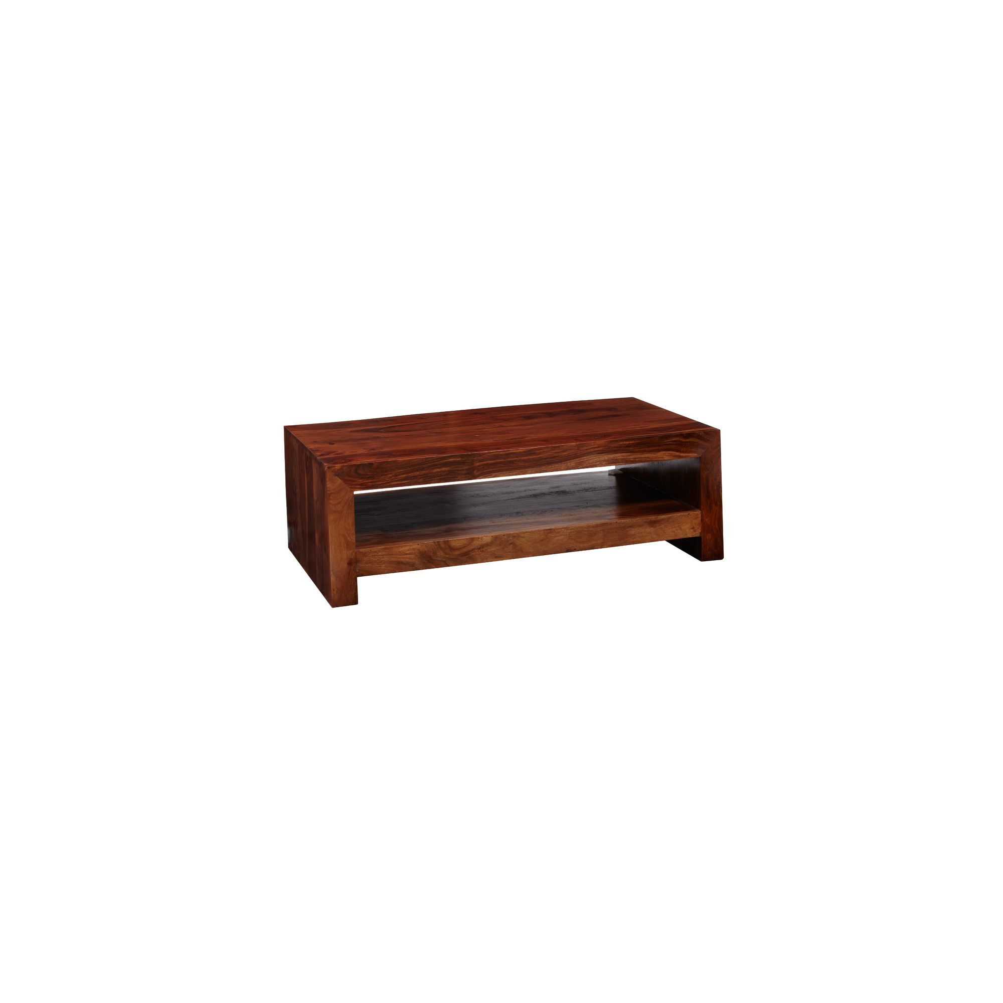 Indian Hub Cube Sheesham Contemporary Coffee Table at Tesco Direct
