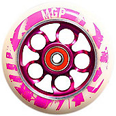 Madd Gear MGP Aero 110mm Scooter Wheel Including Bearings (Nitro White) - Pink/White