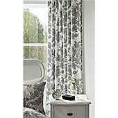 Catherine Lansfield Printed Lace 66x72 Cotton Curtains Fully Lined Curtains 168x183cm Multi