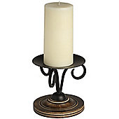 "Hill Interiors Wood and Metal Candlestick for 6"" Candles"