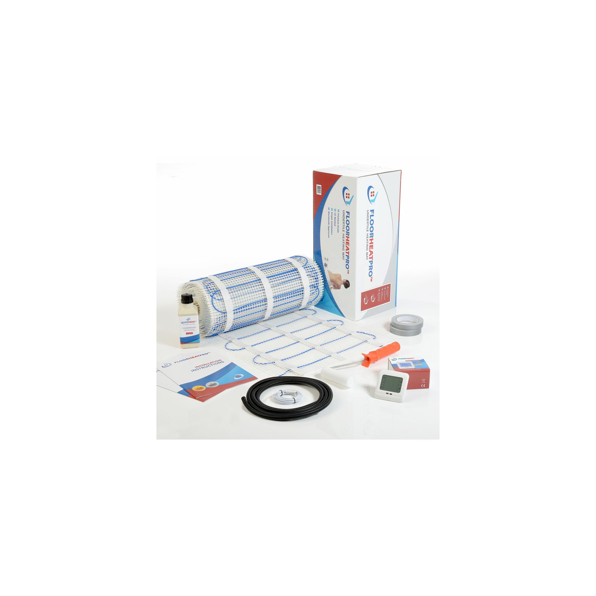 16.0m2 - Underfloor Electric Heating Kit 200w/m2 - Tiles at Tesco Direct