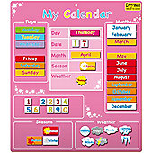 Fiesta Crafts Doowell Large Pink Magnetic Calendar