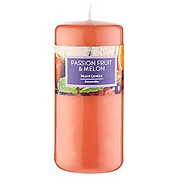 Tesco Pillar Candle, Passion Fruit & Melon