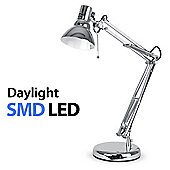Modern Daylight LED Desk Lamp in Chrome