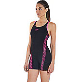 Speedo Ladies Monogram Endurance+ Legsuit - Black