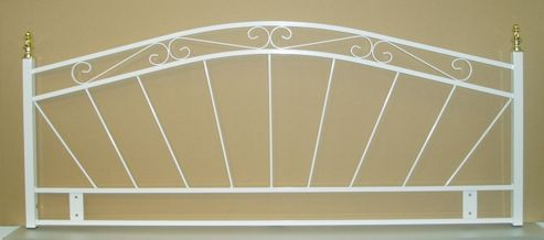 Seetall 8051 Metal Headboard in White - Double
