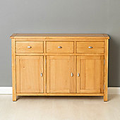 Poldark 3 Door Sideboard - Light Oak