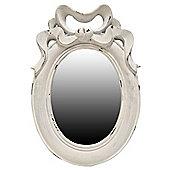 Alterton Furniture Bow Mirror - Rubbed Antique White
