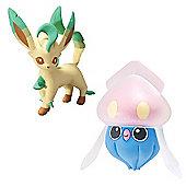 Pokemon XY Double Figure Pack - Inkay vs Leafeon