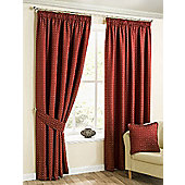 Morocco Pencil Pleat Curtains - Red