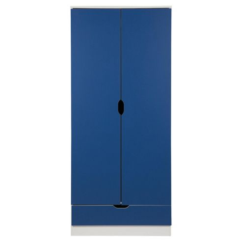 Jasper 2 Door Wardrobe, White/Blue