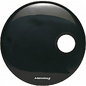 Aquarian Regulator Black Resonant 4.75in Ported Bass Drum Head (22in)