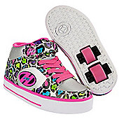 Heelys Silver and Pink Multiprint X2 Cruz Skate Shoes - Silver