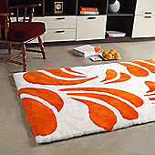 Bowron Sheepskin Shortwool Design Baroque Number 3 Peach Rug - 240cm H x 65cm W x 1cm D