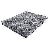 Tesco grey jacquard Bath Sheet