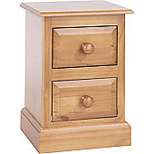 Core Products Edwardian 2 Drawer Petite Bedside Cabinet - Pine