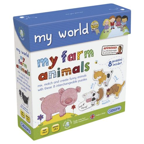 My Farm Animals mixmatch puzzle Age 18m+