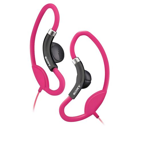 Sony Sport Headphones with Loop Hangers Pink MDRAS21