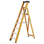 Heavy Duty 8 Tread All GRP Fibreglass Platform Step Ladder