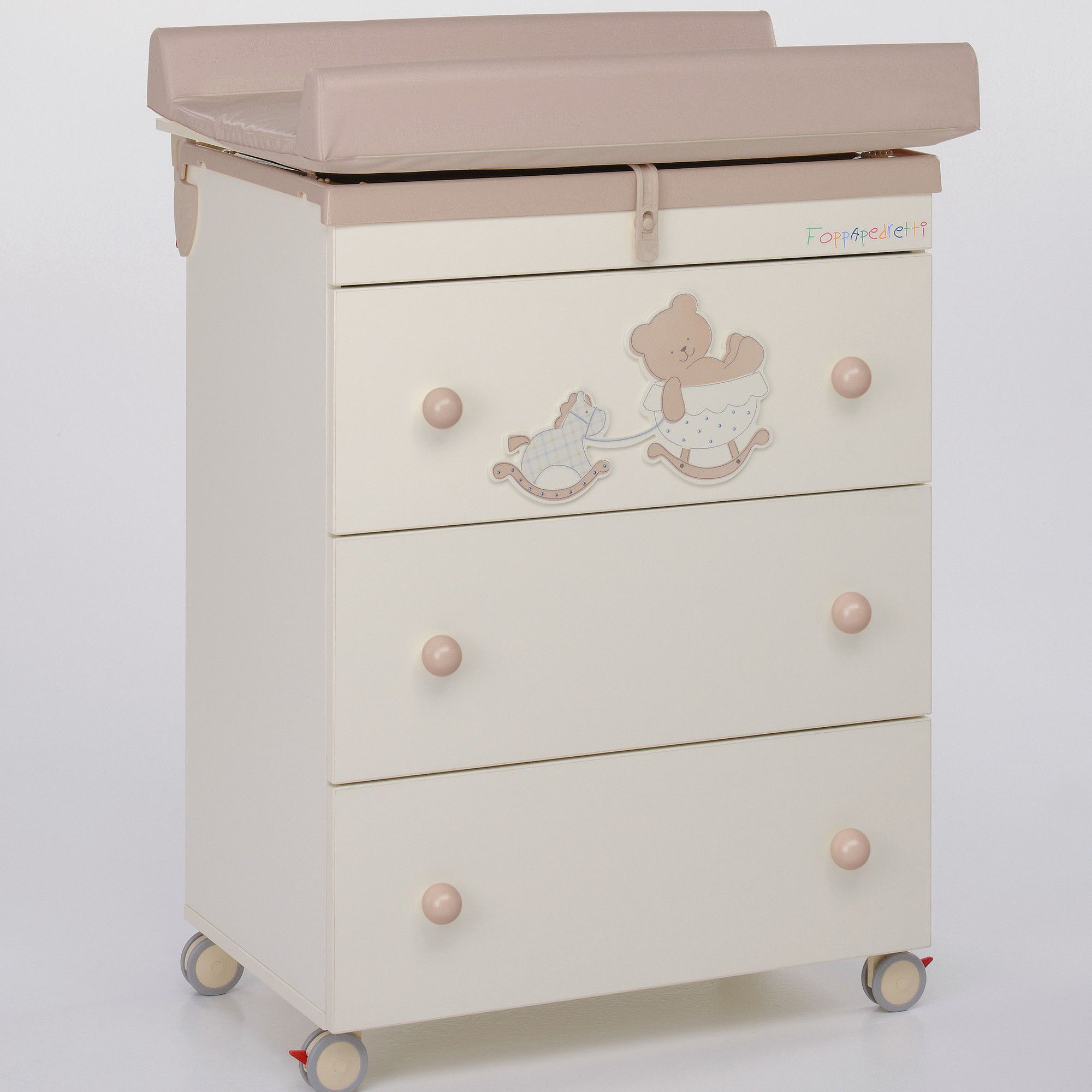 Foppapedretti Bambino Legno Amy Changing Table in Honey and Cream at Tesco Direct