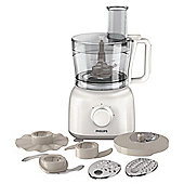 Philips Food processor, HR7627/01, 650W - White & Beige