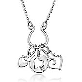 Lily & Lotty Sterling Silver 0.01ct Diamond MATILDA Necklace