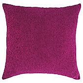 Texture Chenille Cushion Shocking Pink